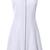 White Round Neck Sleeveless Zipper Dress - Sheinside.com