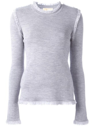 jumper knit women grey sweater