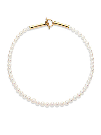 Saint Laurent - Pearl Beaded Strand Necklace - Saks.com