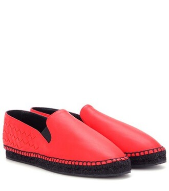 espadrilles leather red shoes