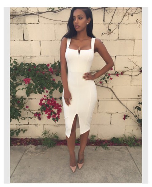 Dress White Sexy Long Sonyabee Thejodiejoe Black Girls Killin