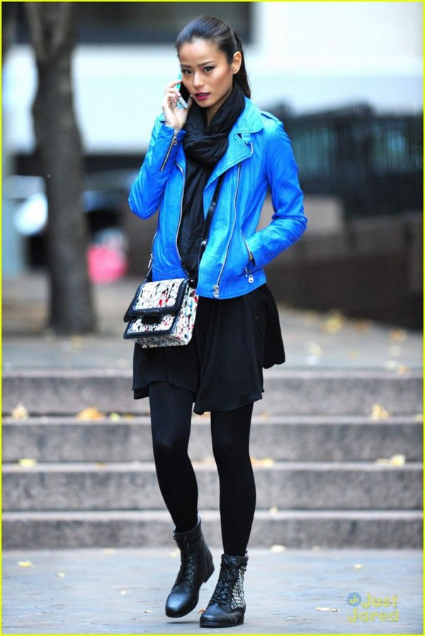 jacket boots bag jamie chung shoes