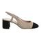 Office maddie slingback toe cap block heels nude suede black suede toe cap - mid heels