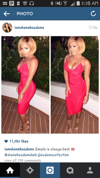 straps long dress red dress sheneka adams midi length