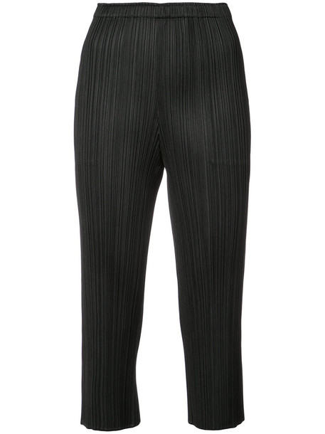 Pleats Please By Issey Miyake women black pants