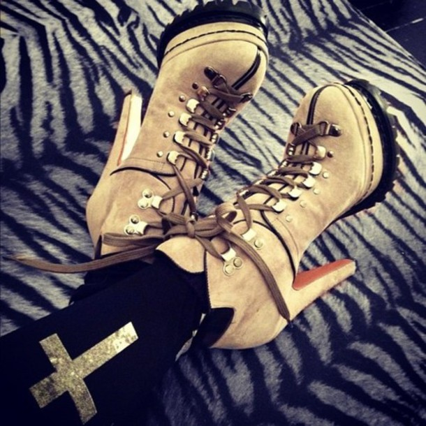 shoes crosses high heels