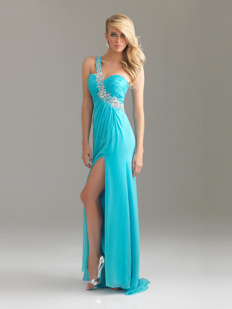 dress light blue light blue prom dress