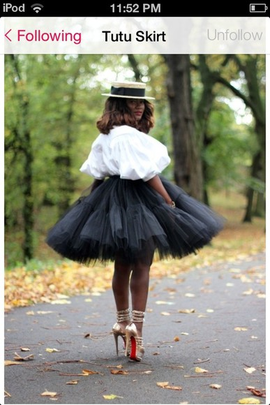 skirt tutu skirt black tulle shirt