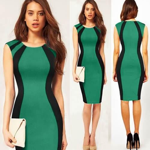 2014 New Fashion Women Summer Dress Sexy Bodyon Bandage Dress OL Office Lady Bodycon Celebrity Pencil Dress 4028 | Amazing Shoes UK