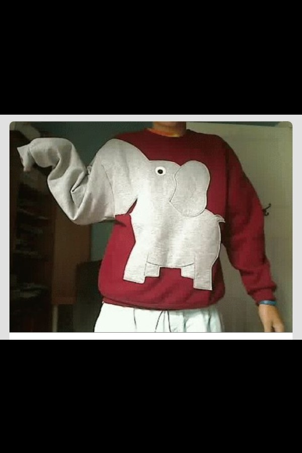 shirt sweatshirt gray sweatshirt elephant red sweatshirt bag