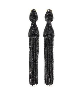 tassel earrings black jewels