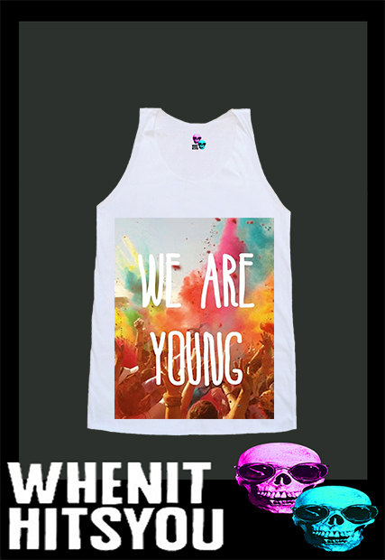 We are young exclusive hand print shirt singlet tank by voguecraze