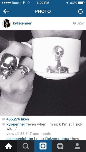 skull ring skull ring home accessory