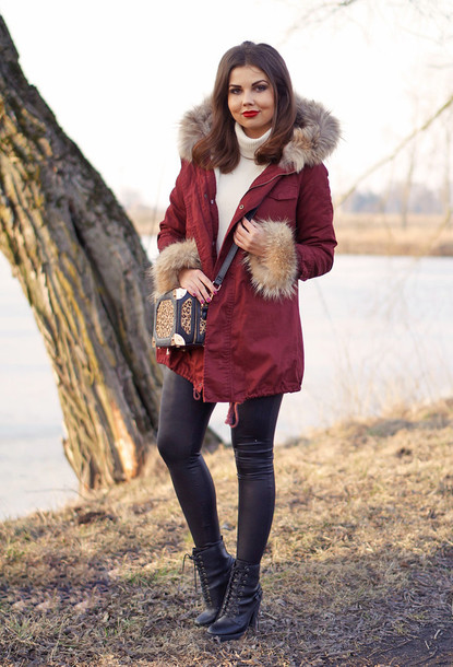 a piece of anna blogger coat shoes bag pants sweater