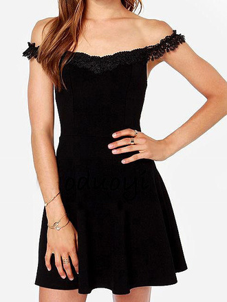 dress neck detail black black dress little black dress off the shoulder off the shoulder dress black off the shoulder dresss off-the-shoulder skater dress black skater dress embroidered embroidered dress