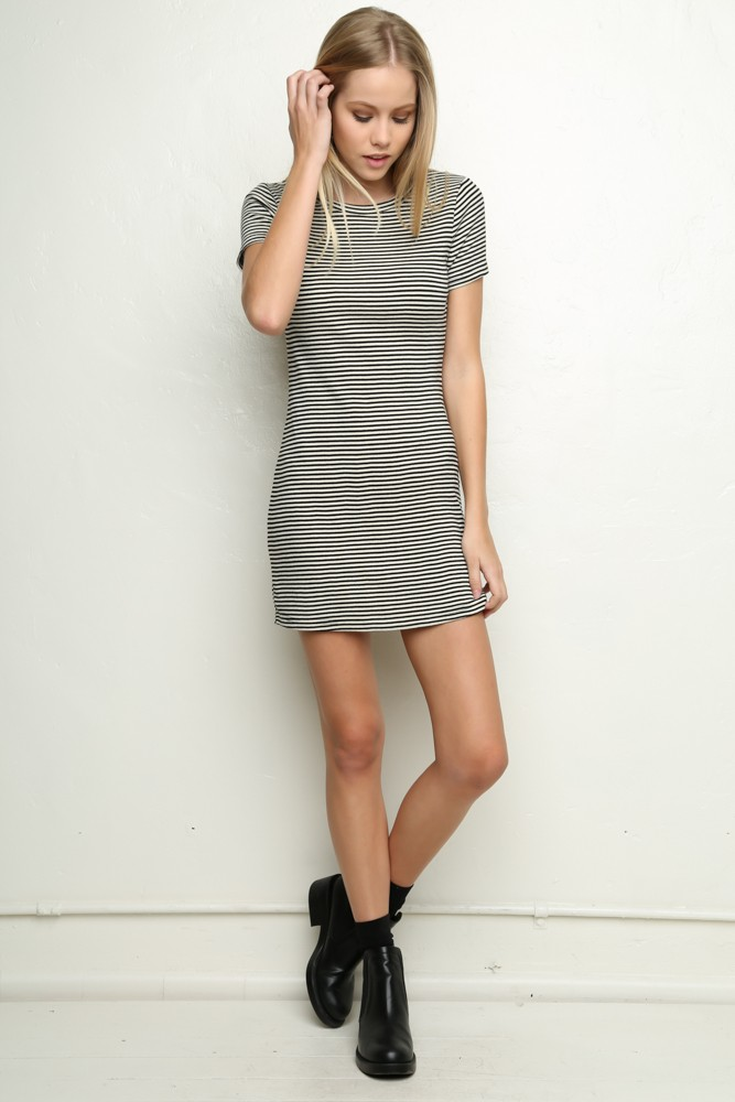 brandy melville striped t shirt dress