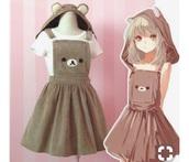 dress,bear,cute,kawaii