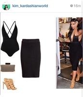 swimwear,black,kim kardashian,leotard