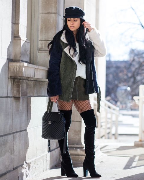bb439f8417a9 shoes tumblr jacket green jacket sweater white sweater skirt mini skirt  green skirt tights net tights