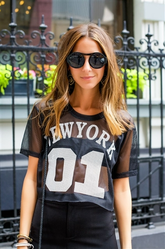 Game on nyc crop top
