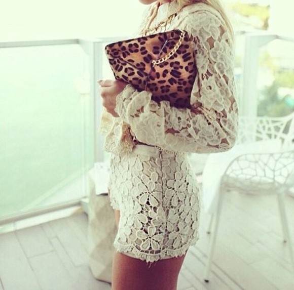 clutch dress white lace dress