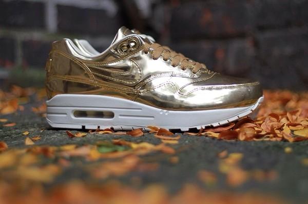 shoes gold air max fashion swag