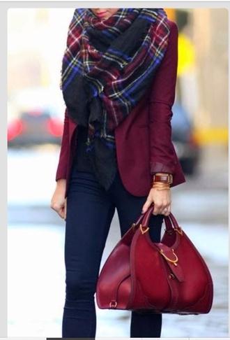 bag scarf jacket