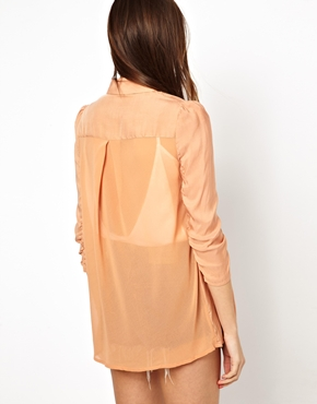 Costa Blanca | Costa Blanca Blazer with Chiffon Sleeves at ASOS
