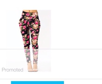 pants black pink and tan
