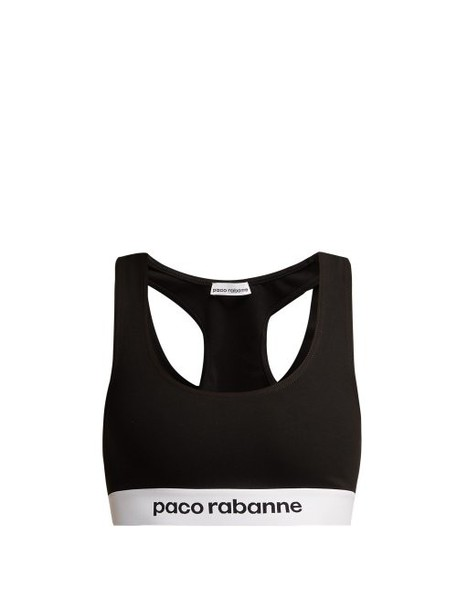 bra sports bra jacquard black underwear