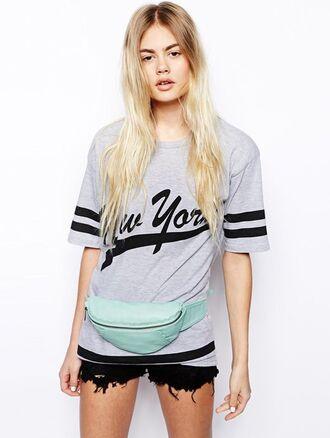 bag mint pastel bag 90s style belt bag