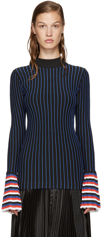 top striped top navy red