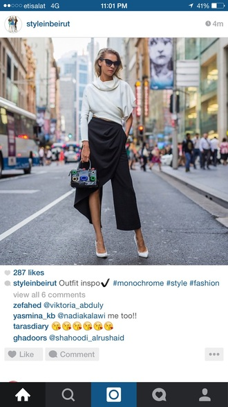 pants asymmetrical black skirt