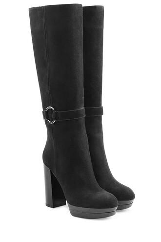 heel high heel high boots heel boots suede black shoes