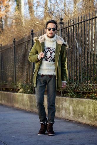 the metro man blogger mens coat parka winter sweater mens sneakers