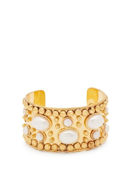 Sylvia Toledano cuff pearl gold jewels