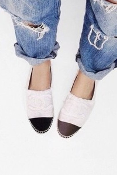 shoes chanel shoes casual shoes white shoes