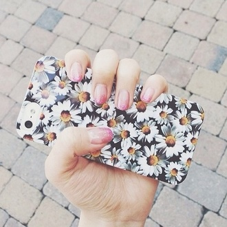 phone cover technology jewels iphone case iphone flowers daisy fashion black white floral yellow tumblr outfit pastel phone case iphone cover purse/iphone case clothes floral phone case