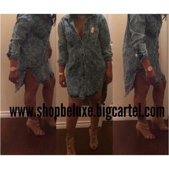 dress be'luxe boutique jeans latest fashion button up
