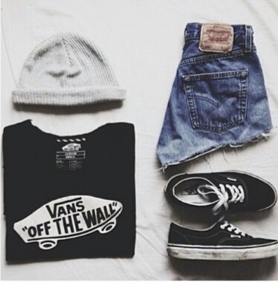 vans shorts hat jumper