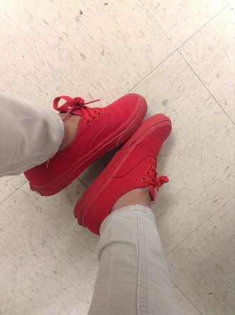 shoes vans red shoes cute red nice