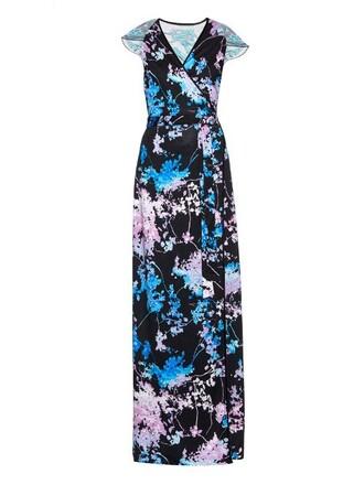gown embellished black dress
