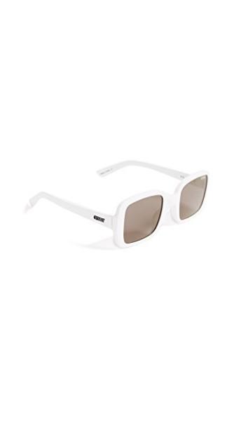Quay sunglasses gold white