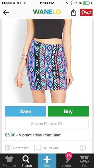 skirt pencil skirt tribal skirt vibrant vibrant color