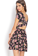 Enchanted Floral Cutout Dress | FOREVER21 - 2000069954