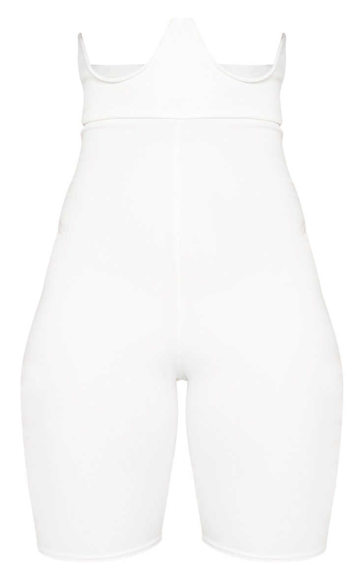 White High Stretch Bustier Cycle Short
