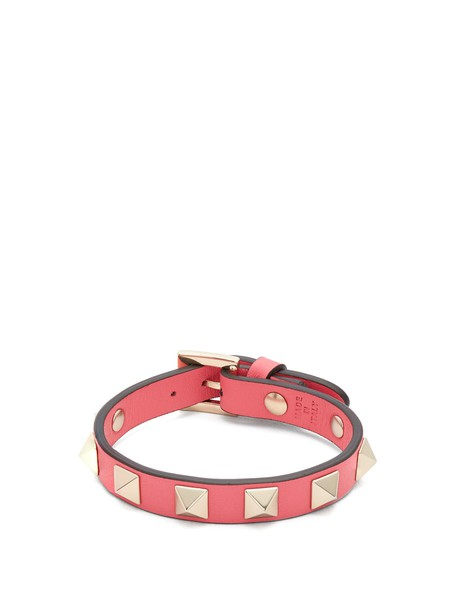 Valentino leather pink jewels