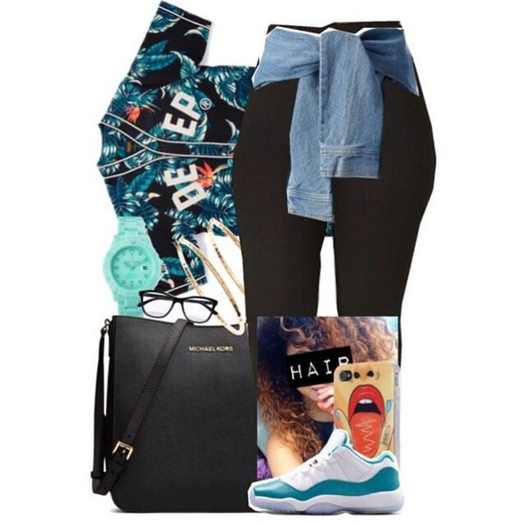 jersey phone case top black pants mk