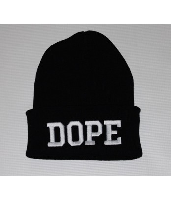 DOPE BLACK BEANIE BY GOLDENGATE VINTAGE