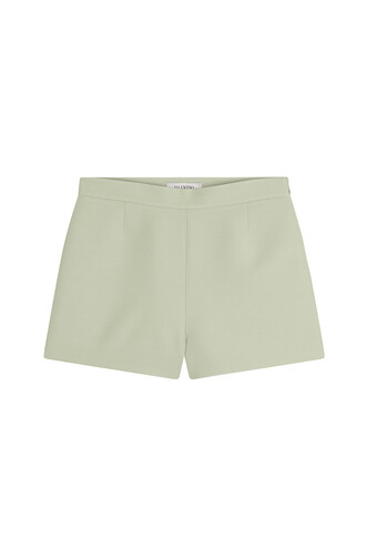 shorts silk wool green